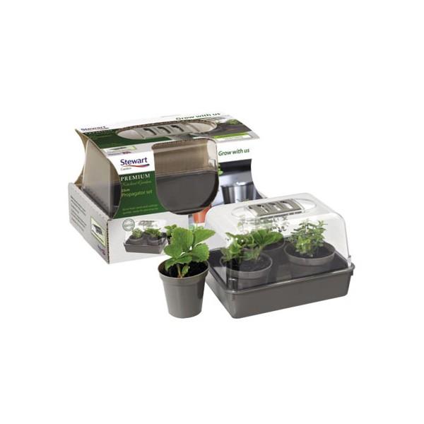 Stewart company 22cm kitchen garden propagator set for Kitchen set modena